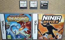 LOT 5 NINTENDO DS GAMES Ninja Relfex Combat Giant Dragon Lost Magic Grey Anatomy