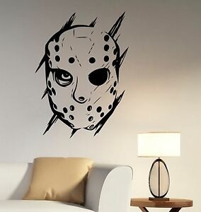 Jason Voorhees Wall Decal Scary Movie Vinyl Sticker Art Bedroom - Sporting wall decals