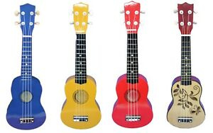 21 ukulele guitar 4 string beginners musical instrument for kids or adults ebay. Black Bedroom Furniture Sets. Home Design Ideas