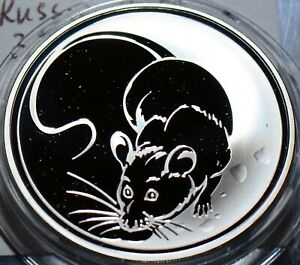 R0006-Russia-2008-3-Roubles-lunar-year-rat-mintage-10-000-ruble-combine-shippi