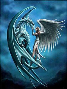Full-Diamond-Painting-Cartoon-Angel-Pterosaurs-Dragon-Fashion-Handicraft-6209X