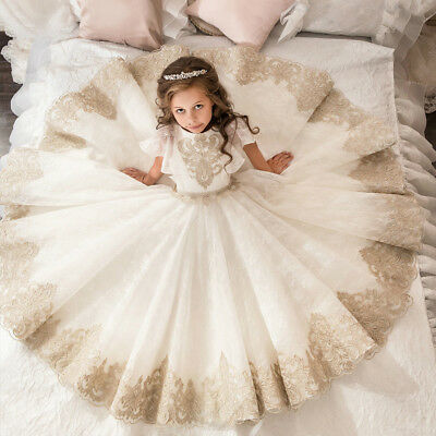 Wedding & Formal Occasion Wedding Party Flower Dress Holy Girl Communion Party Prom Princess Pageant Dress Clothing, Shoes & Accessories