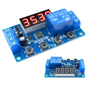 12V Timing Delay Relay Module Digital LED Dual Display 0-999 hours Cycle Timer^Z