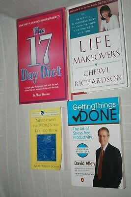 Lot 4 Self Help Books Getting Things Done 17 Day Diet Meditations Life Makeovers Ebay
