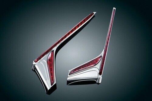 Kuryakyn LED Vertical Rear Run//Brake Light Strips 3237 49-7023 2040-1648 Chrome