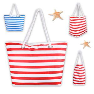 Strandtasche-Badetasche-Umhaengetasche-Einkaufstasche-Saunatasche-Maritim-Look