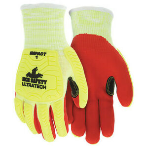 Mcr Safety Ut1956m Coated Gloves,M,Knit Cuff,Pk12