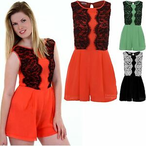 1efcb07e87b Image is loading Ladies-Sleeveless-Floral-Lace-Contrast-Lined-Chiffon-Women-