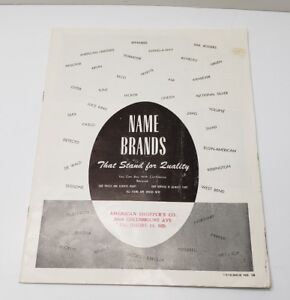 Vintage Mailorder Catalog AMERICAN SHOPPER'S CATALOGUE Baltimore MD Name Brands