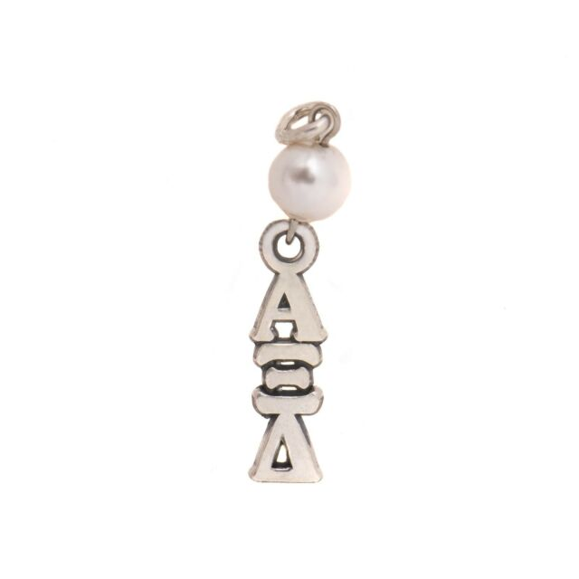 Alpha Xi Delta Sorority Sterling Silver Lavalier with Chain