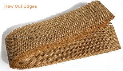 3.0 Mtrs Quality Natural Rustic Jute Burlap Hessian Ribbon Trims Tape Strip Wrap