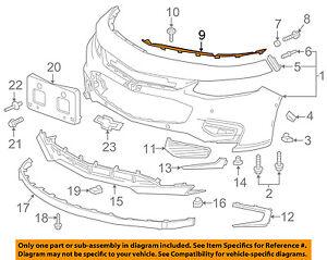 Chevrolet GM OEM 08-12 Malibu Front Bumper Grille-Center Support 25913452