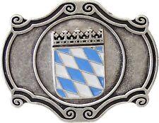 Buckle Oktoberfest Cintura Fibbia con Stemma Baviera Con Bianco blu rombi