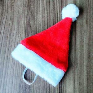 Christmas-Santa-Hat-5-5-034-Wide-for-Pets-Dog-Cat-amp-Small-Animals-Santa-Red-UK-2h