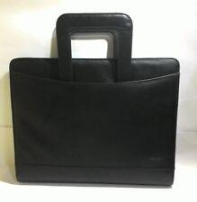 Leathario Padfolio Writing Pad Business Presentation Folder With Handle Black