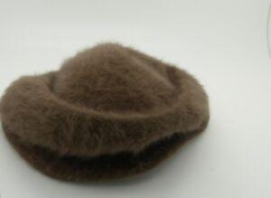 96455697b5d Kangol Womens Hat Brown Vintage Angora with brim Sue Regular Made in ...