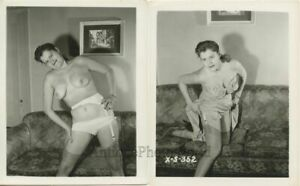 Undressing-nude-woman-by-couch-two-vintage-pin-up-photos
