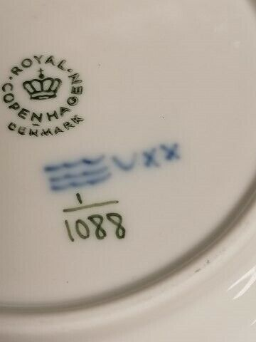 Porcelæn, Kongelig porcelæn musselmalet helblonde...