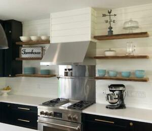 Custom Built Walnut Floating Wall Mounting Kitchen Floating Shelves - FREE SHIPPING Canada Preview
