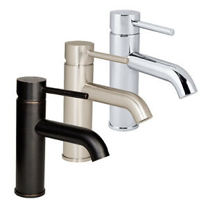 euro modern bathroom vessel vanity sink faucet lavatory single hole