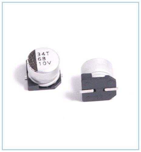 10PCS 68UF 10V SMD ALUMINUM ELECTROLYTIC CAPACITORS.6X5MM 10V68UF
