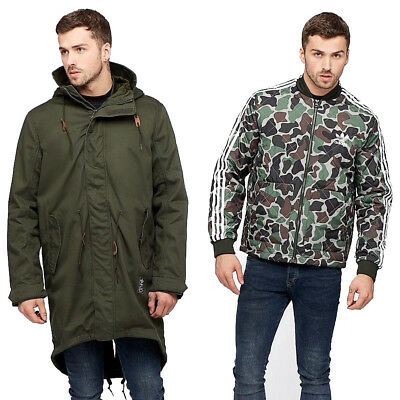 Adidas Originals Herren Utility Parka mit Abnehmbare Jacke