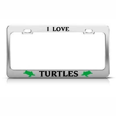 Love Is The Answer Chrome Metal License Plate Frame Tag Holder