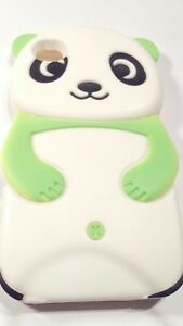 For-iPhone-4-4s-Green-Panda-Bear-3D-Silicone-Rubber-Gel-Skin-Phone-Case-Cover
