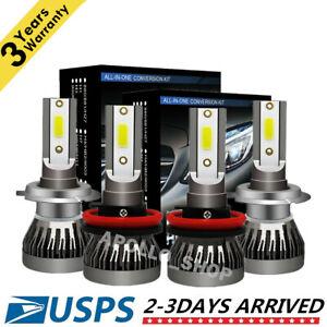 Mini-H7-H11-Combo-LED-Headlight-Kits-Fog-Light-Bulbs-High-Low-Beam-6000K-Bright