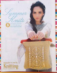 """Summer Knits - 6 Motifs-supplément De """"tricot"""" Mag Original-afficher Le Titre D'origine"""