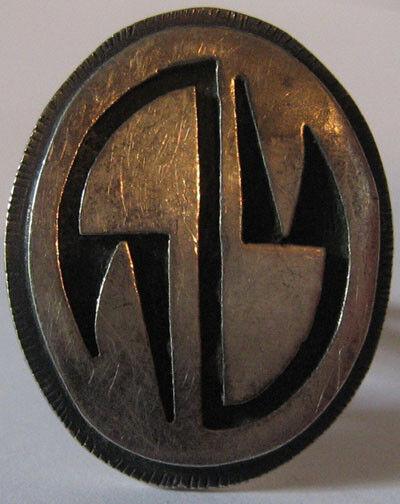 100% QualitäT Vintage Hopi Indisch Silber Overlay Ring NüTzlich FüR äTherisches Medulla
