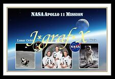 *NEW* APOLLO 11 CREW & MISSION - NASA SPACE PROGRAM - REALLY COOL POSTER *NEW*