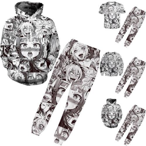 Ahegao Fun Emoji Anime Art 3D Print Women Men Pullover Hoodie Jumper Sweatshirts