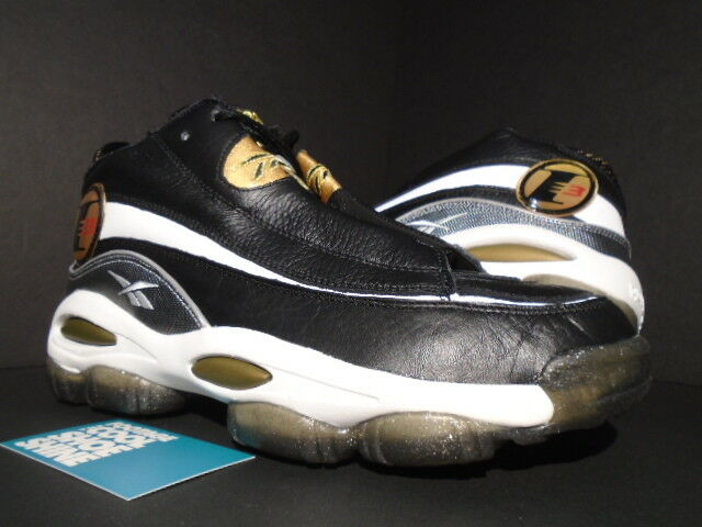 REEBOK THE ANSWER DMX 10 ALLEN IVERSON QUESTION BLACK WHITE gold RED 39577 9