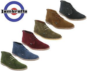 Lambretta-Desert-Boots-in-Pelle-Scamosciata-Da-Uomo-Piatto-Selecter-IMBOTTITO-MOD-PUNTA-TONDA-UK-7