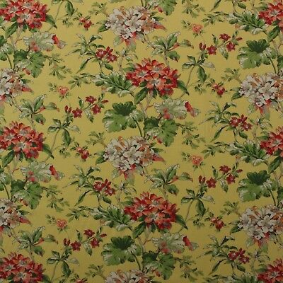 "WAVERLY FAWN HILL CITRUS YELLOW GREEN FLORAL VINE FABRIC SAMPLE 3"" X 3"""