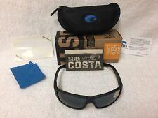 Costa Del Mar Cat Cay Grey 580P Rectangular Sunglasses AT 01 OGP AT 01 OGP