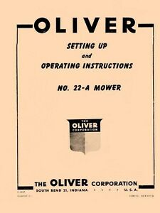 OLIVER-No-22-A-22A-Mower-Operators-Manual