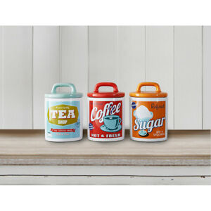 vintage style kitchen canisters vintage ceramic tea coffe sugar canisters 50 s 60 s style retro canisters jars ebay 432