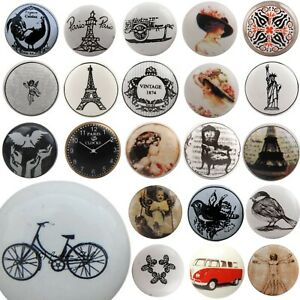 Details About Vintage Ceramic Door Knobs Mix Match Shabby Chic Handles Boho Cupboard Drawer