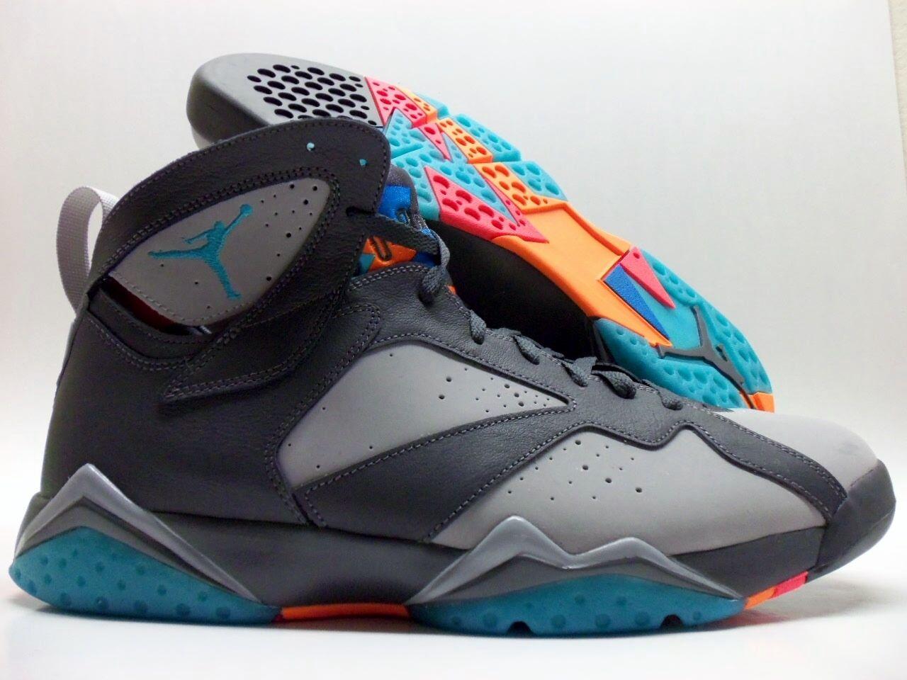 Nike air jordan 7 retrò barcellona giorni grigio scuro dimensioni uomini 14 [304775-016]