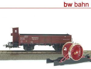 Sachsenmodelle-H0-Niederbordwagen-Treibrad-aus-14111-Gueterwagen-Wuerttemberg