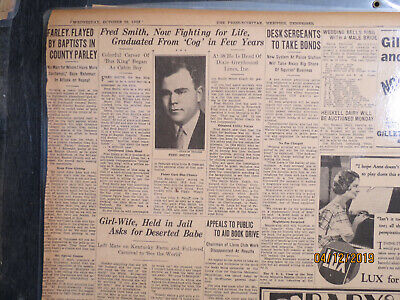 Aviation Memphis Newspaper 1933 Fedex Dad Fred Smith Fighting For Life Firm In Structure