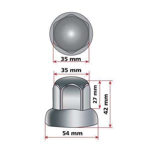testa tonda Ø 33 mm Set 40 copribulloni in acciaio