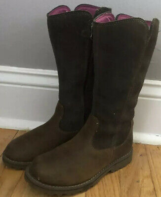 girls leather boots size 13