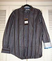 Zagiri Kml-2369 Any Way You Want It Black Stripe Casual Dress Shirt $145+ M