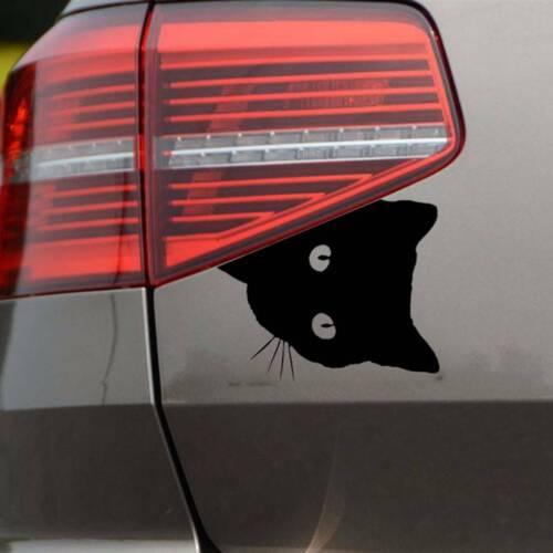 Cat Face Peeking Motorcycle Decors Automotive Decals Decoration Car Sticker