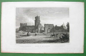 GERMANY-Ruins-at-Andernach-on-Rhine-River-1832-Antique-Print-Engraving