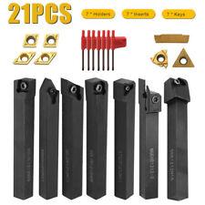 21pcs Set 12mm Shank Lathe Turning Tool Holder Boring Bar With Carbide Inserts