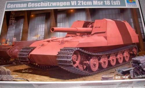Trumpeter - Gun Wagon VI 21cm Mrs 18 SF TIGER Grill 1 3 5 Model Kit New